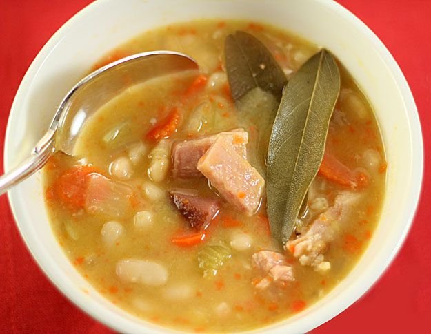 Red Lentil soup with Ham and Curry