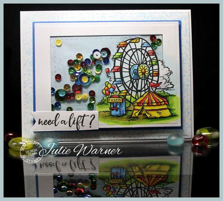 Ferris Wheel shaker card - Julie Warner for Serendipity