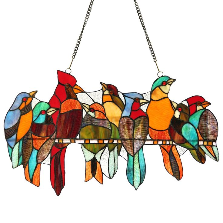 Features:  -Kuno collection.  -Hanging chain (included).  -146 Pieces glass cut and 9 cabochons.  -Indoor setting.  Color: -Multi-colored.  Number of Items Included: -2.  Orientation: -Vertical.  Shap