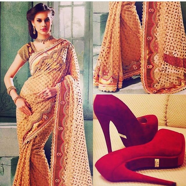 Be the belle of the ball in gold and red Krina saree❤️  Indian Couture and Fashion Online Boutique Luxury  http://amp.gs/lBiH