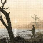 Gone Fishing - Silhouettes Cross Stitch Kit from Heritage Crafts