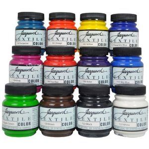Amazon.com: Jacquard Textile Color 12 Assorted Pigments Fabric Dye Airbrush Spray Paint: Arts, Crafts & Sewing >>> voor het schilderen op lycra pakjes