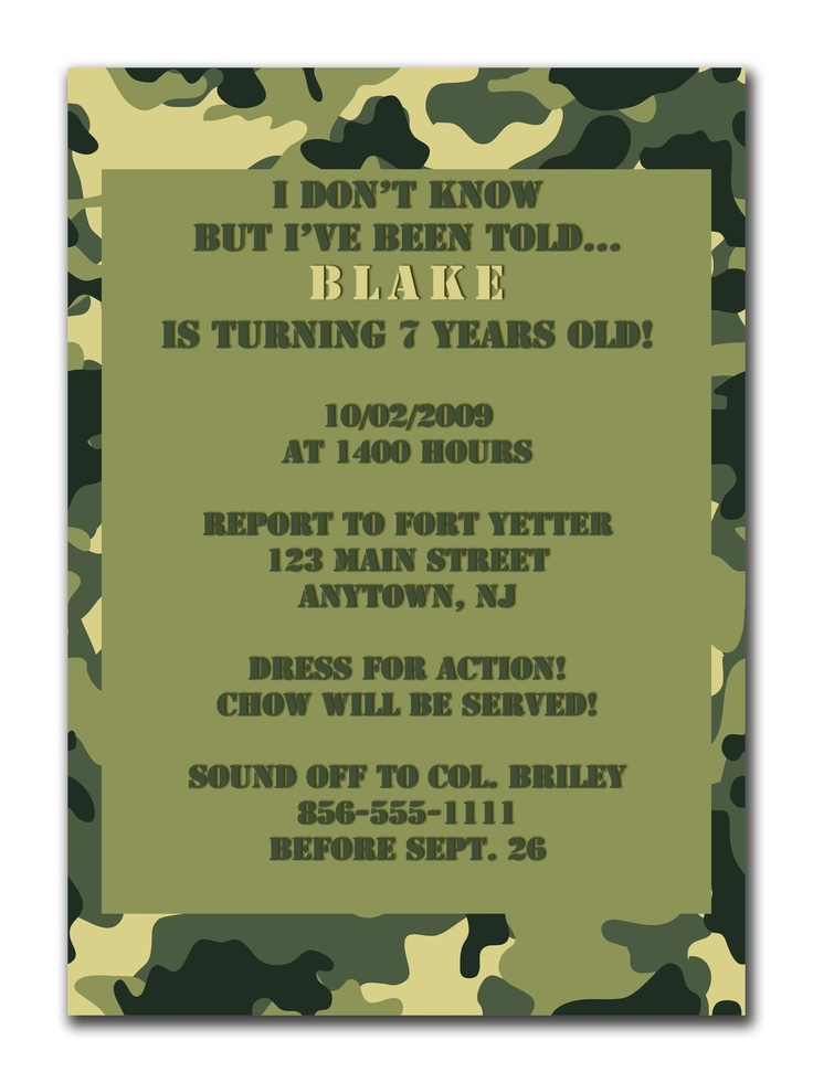 Free printable army baby shower invitation orderecigsjuicefo 13 best party favors images on pinterest birthday party ideas invitation templates filmwisefo Gallery
