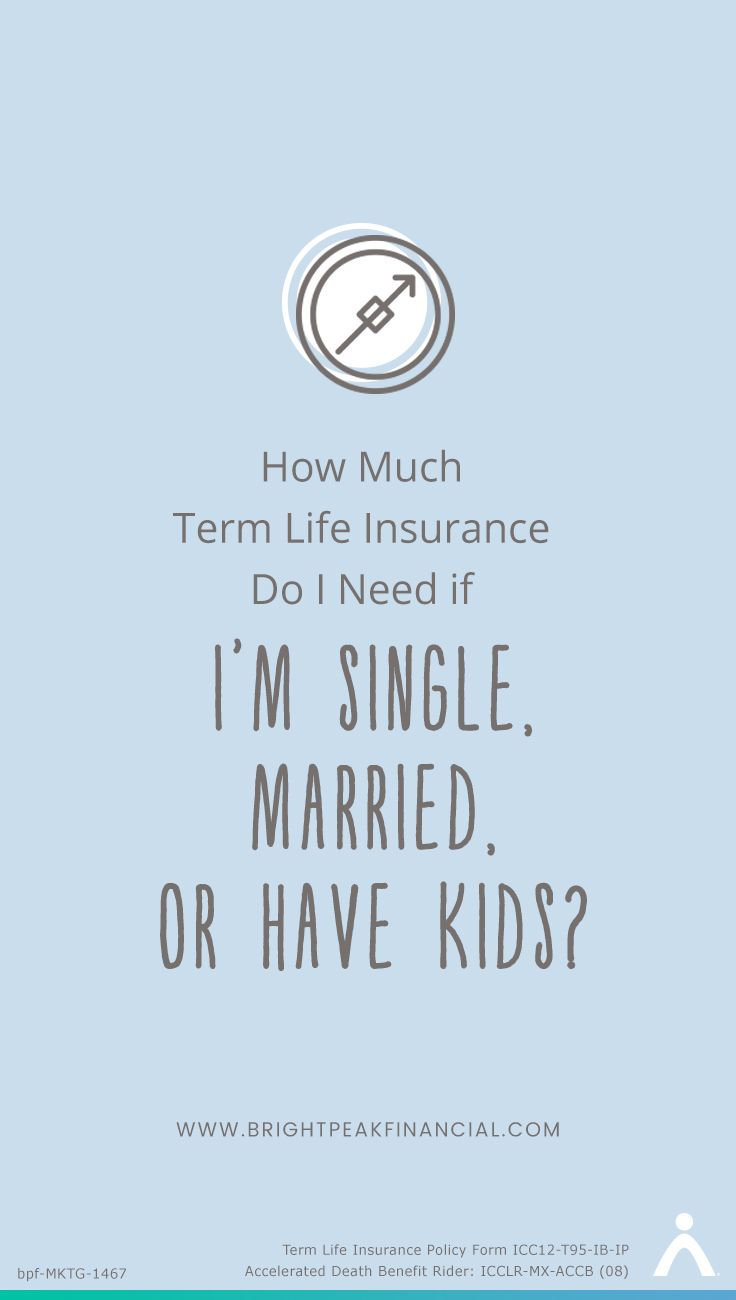 How Much Term Life Insurance Do I Need If I M Single Married Or