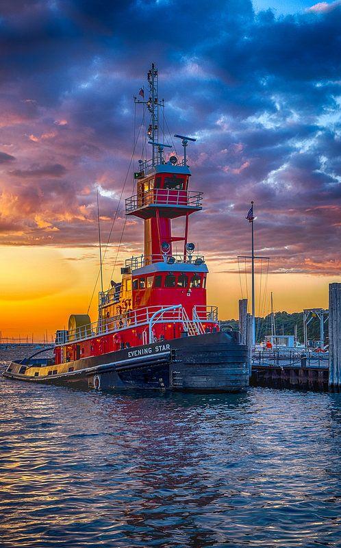 ~~Tug Boat • Port Jefferson, New York • by Jeff Anderson FFF~~