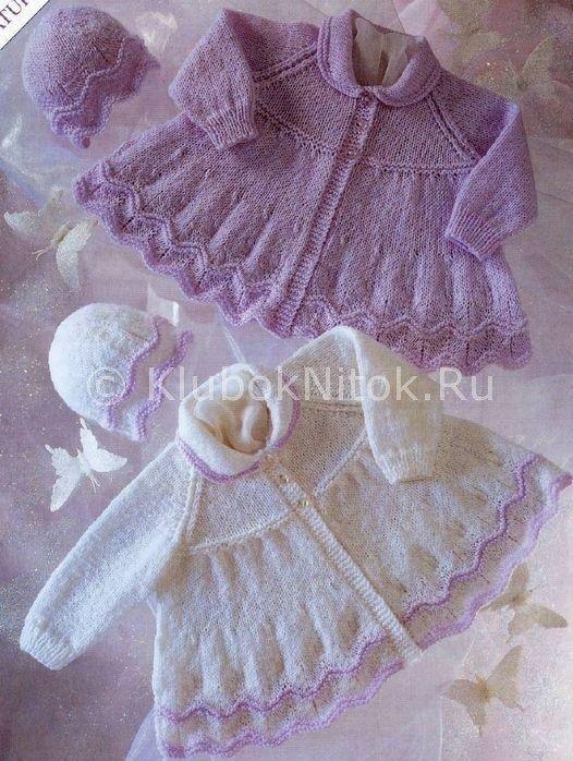Пальто и шапочки | Вязание для девочек | Вязание спицами и крючком. Схемы вязания.