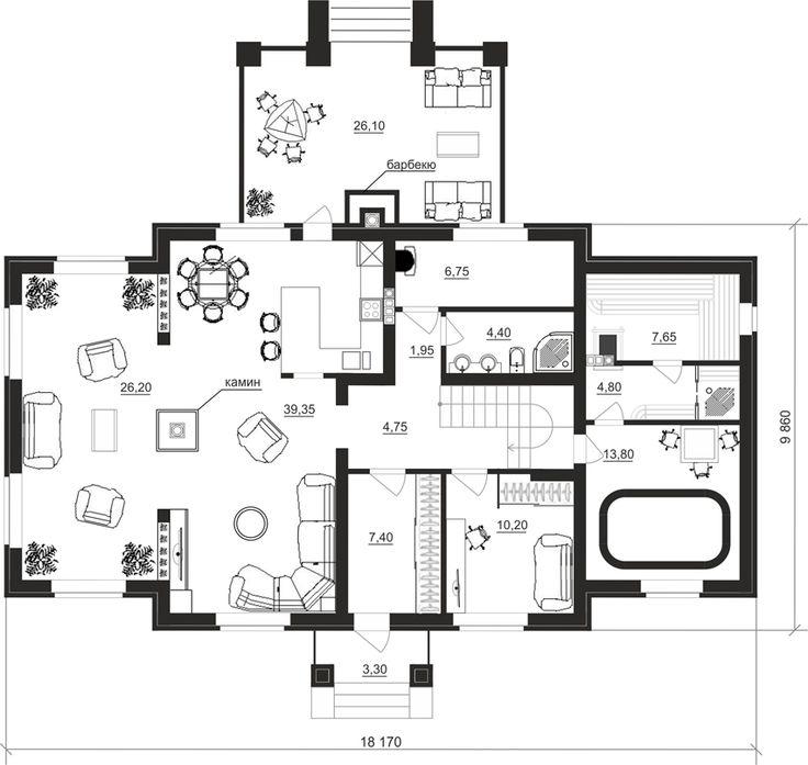 Поэтажные планы проект дома 92-28 общ. площадь 202,45 м2