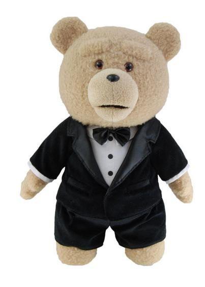 Peluche Osos Ted (The Movies)con Sonido, 60cm. Versión Inglés Ed. Limitada Peluche en edición limitada del protagonista Ted, de 60cm en versión inglés.