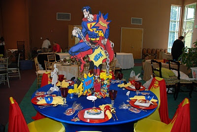 Superman Table Styling