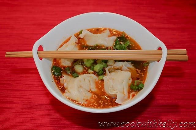 紅油抄手/Wonton Soup in Spicy Sauce