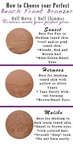 Looking for your summer glow without the harsh side effects of tanning!?  I love my bronzers!!  Get yours from  www.lovintheselashes.com