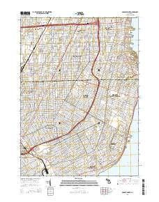 ~ Grosse Pointe MI topo map, 1:24000 scale, 7.5 X 7.5 Minute, Historical, 2014