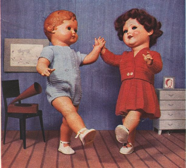 1950's dolls doll clothes pattern book vintage retro toys