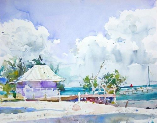 Charles Reid, Beach House, Belize - The Munson Gallery