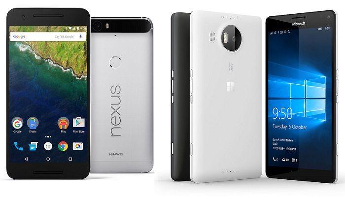 Nexus 6P vs Lumia 950 XL