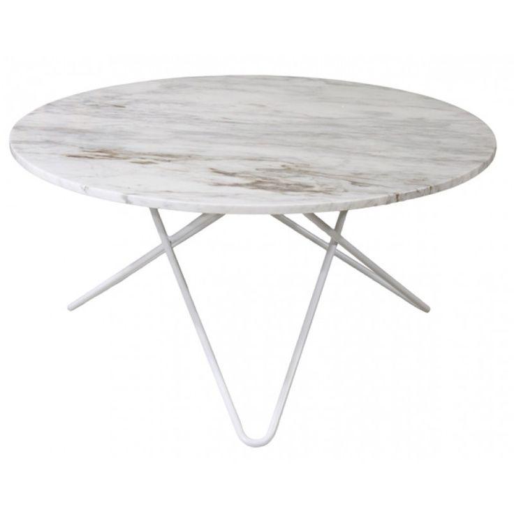 Topp runt marmor soffbord med vitt underrede u00d8 80cm Idéer för hemmet Soffbord, Soffbord