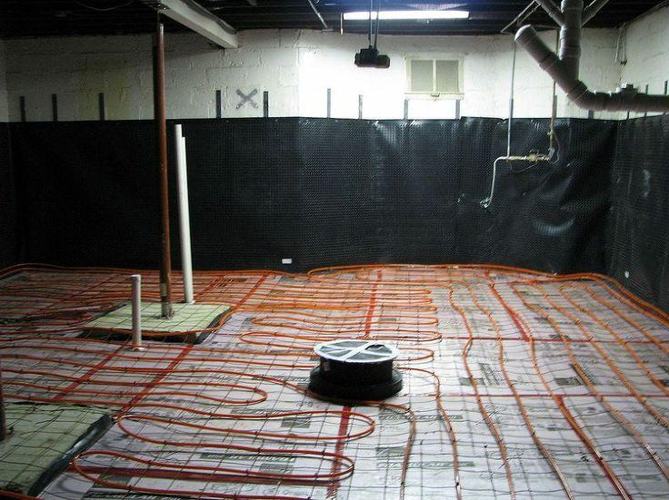 concrete basement floor w radiant heat