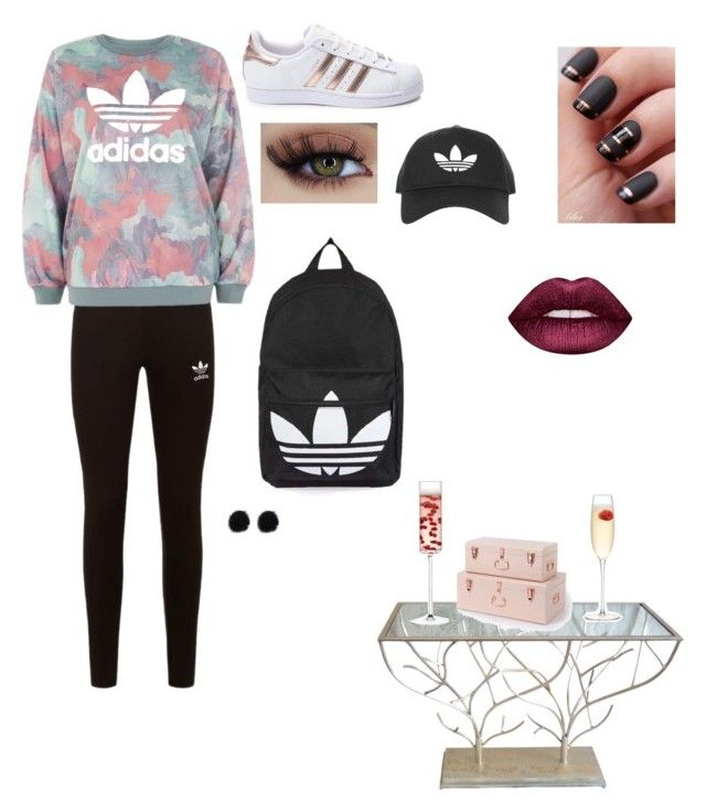 """cool suit "" by elizanico ❤ liked on Polyvore featuring interior, interiors, interior design, home, home decor, interior decorating, adidas Originals, adidas, Topshop and Lime Crime"