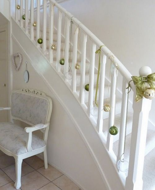 Christmas stairs decorations ideas