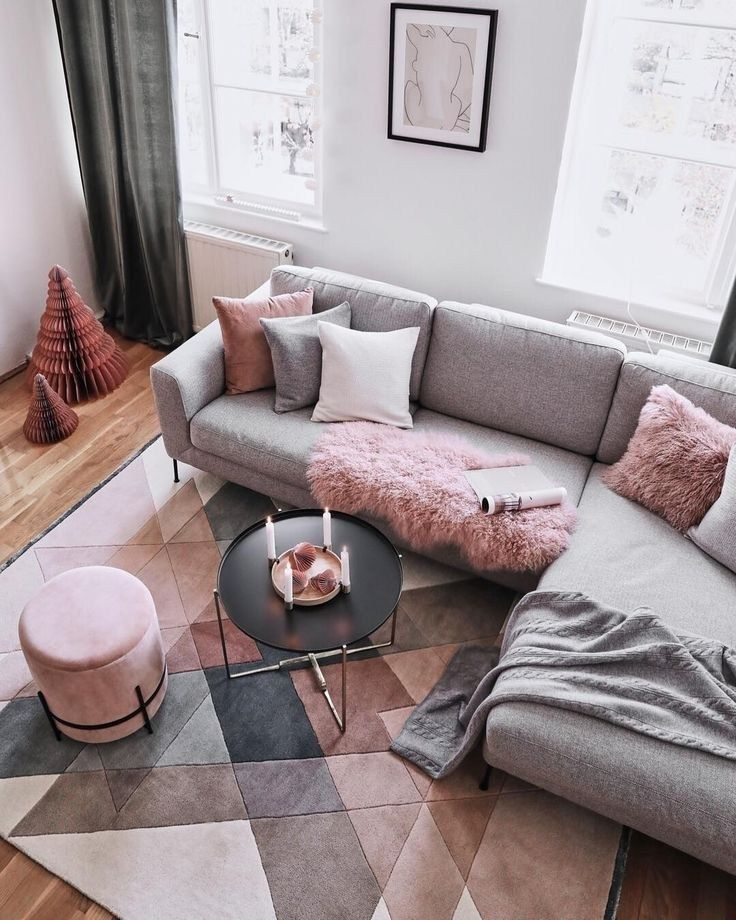 52 Cozy And Simple Farmhouse Living Room Decorating Ideas Ideas For House Renovations Pink Living Room Living Room Grey Living Room Scandinavian #simple #farmhouse #living #room