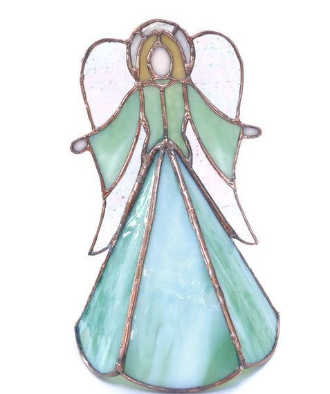 stained glass angel christmas tree topper ooak handmade 17500 via etsy - Angel Christmas Tree Topper