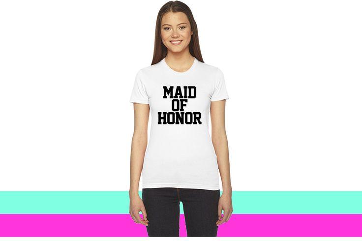 Maid of Honor_ women T-shirt