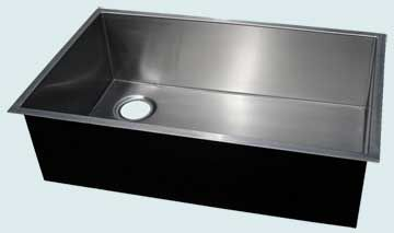 Custom Stainless Steel Kitchen Sinks # 3741