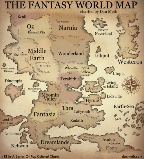 Fantasy World Map Where Is Narnia