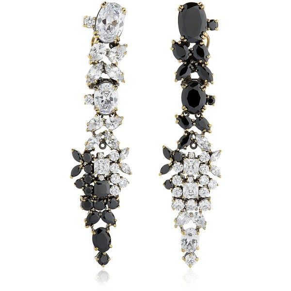 Iosselliani Women Optical Memento Swarovski Earrings (1,635 MYR) ❤ liked on Polyvore featuring jewelry, earrings, black, earrings jewellery, swarovski crystal earrings, nickel free jewelry, iosselliani jewelry and swarovski crystal jewelry