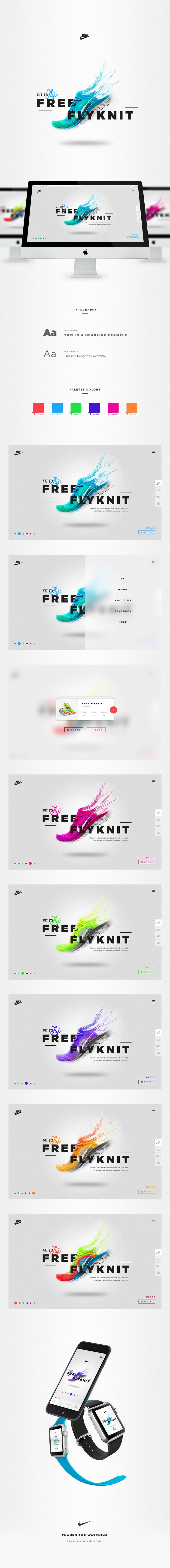 Nike Free Flyknit - Microsite on Behance