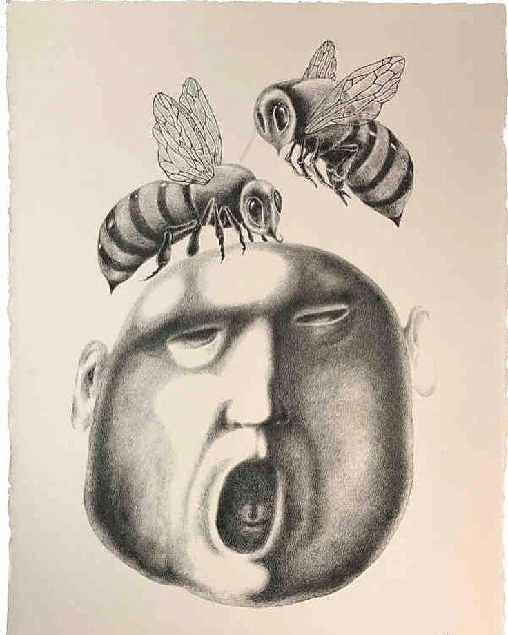 'Scream' original drawing by #yelena - http://ift.tt/1XRnl39  #art #illustration #drawing #draw #illustrator #picture #artist #sketch #sketchbook #paper #pen #pencil #sydney #instaart #instagood #gallery #interiordecor #creative #decorative #instaartist #original #graphic #graphics #bondi #bees
