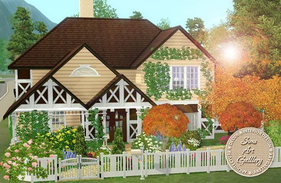 Lovely garden cottage http://www.sims-artgallery.net/en/gallery/sims-3/lots/residential-lots/small/1877/