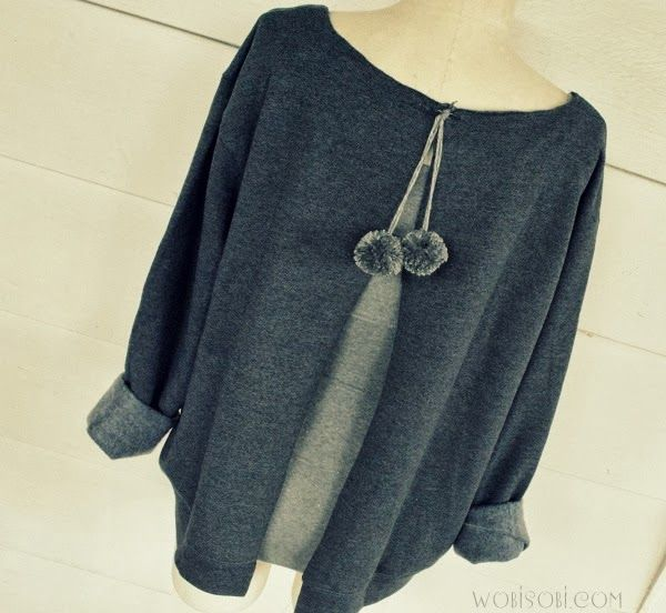 WobiSobi: Aeropostale Inspired Open backed Sweatshirt, DIY