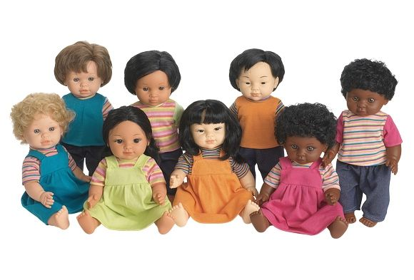 This set of 8 multicultural dolls is outstanding for helping young children begin to understand diversity in cultures. Description from discountschoolsupply.com. I searched for this on bing.com/images
