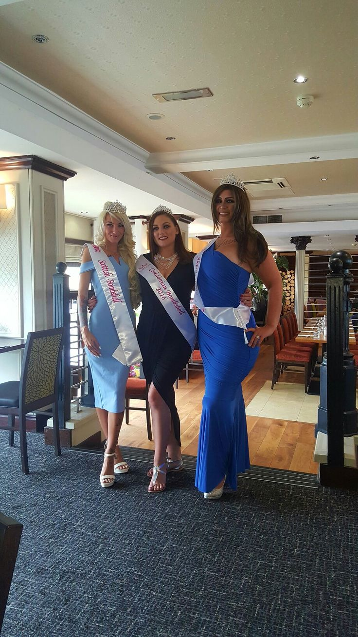 The gorgeous bombshells.... miss scotland and miss caledonia with nyself... miss alopecia UK