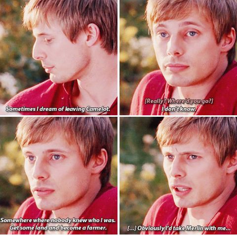 You have got to be kidding me. Obviously you will take Merlin with you Arthur, what could become of you if you didn't?
