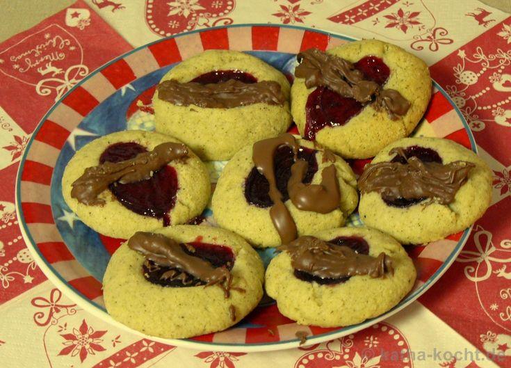 Marmeladenkekse mit Schokolade - katha-kocht!
