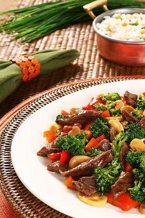Receita de carne com brócolis, do restaurante Taiyang Cozinha Chinesa
