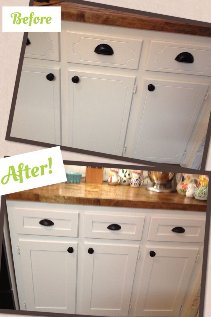 Kitchen cabinet refacing project - DIY shaker trim - done! Before and after