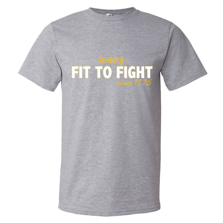 Fit To Fight NAVY since 1775 Mens Short Sleeve Shirt