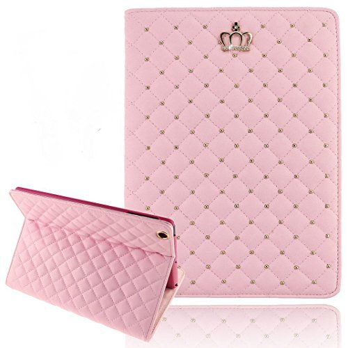 iPad Mini Cases for Teen Girls, Umiko(TM) iPad Mini Cute Crown Bling Luxury Flip PU Leather Rhombus Quilted Smart Case for iPad Mini -Pink Umiko http://www.amazon.com/dp/B00T47T1N2/ref=cm_sw_r_pi_dp_Zo5yvb15FDR9Z
