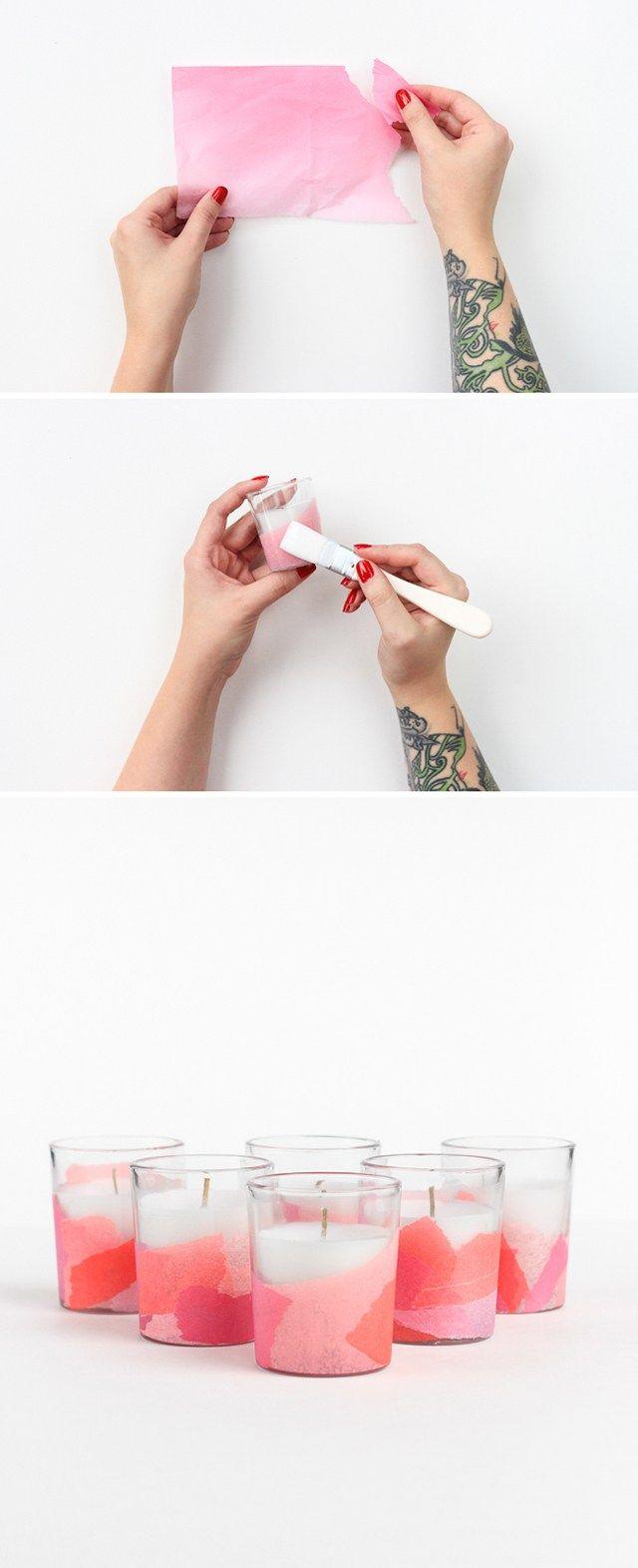 Δες πως μπορείς να διακοσμήσεις τα δικά σου κηροπήγια με χαρτί αφής! Στο ftiaxto.gr