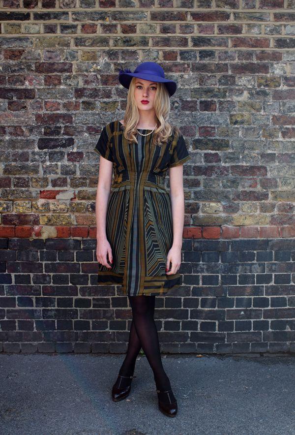 Art dec inspired print dress