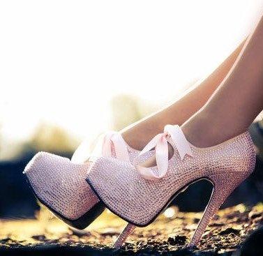 Pink Pink Pink, Fashion, Style, Pink Princess, Pump, Bows, Pink Shoes, Pink Glitter, High Heels