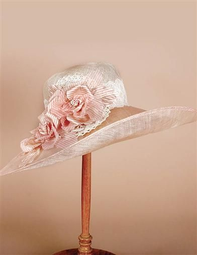 6f7fa2ff Ladies Tea Party Hats- Make or Buy Victorian Hats Louise Green Lenora Lace  Brim Hat $475.00 AT vintagedancer.com