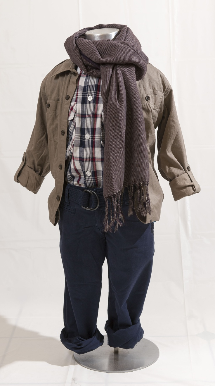RETRO COOL: Tan jacket, $24.95 at TheChildrensPlace.com (sizes 4-14); Blue pants $24.99 and plaid shirt $21.99 by Nevada at Sears.com (sizes 7-16). Enter to win a $ 500 shopping spree with @TheProvince and Brentwood Town Centre: http://theprov.in/pinandwin #backtoschool