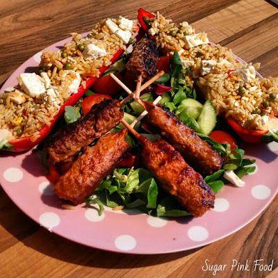 Sugar Pink Food: Slimming World Friendly Recipe: Beef Kebabs & Gian...