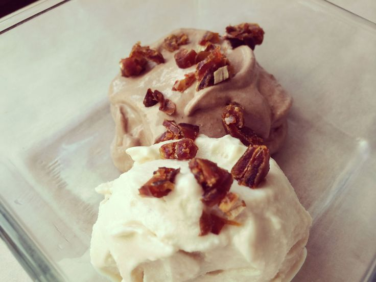 vanilkovo-čokoládová zmrzlina  #sladkosti #raw #vegan #bezlepkové #recepty