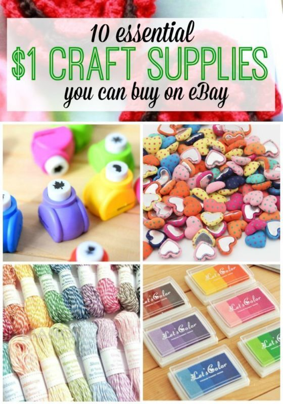 Do you like to save money on craft supplies? Here are 10 of the best craft supply finds that sell for $1 or less!