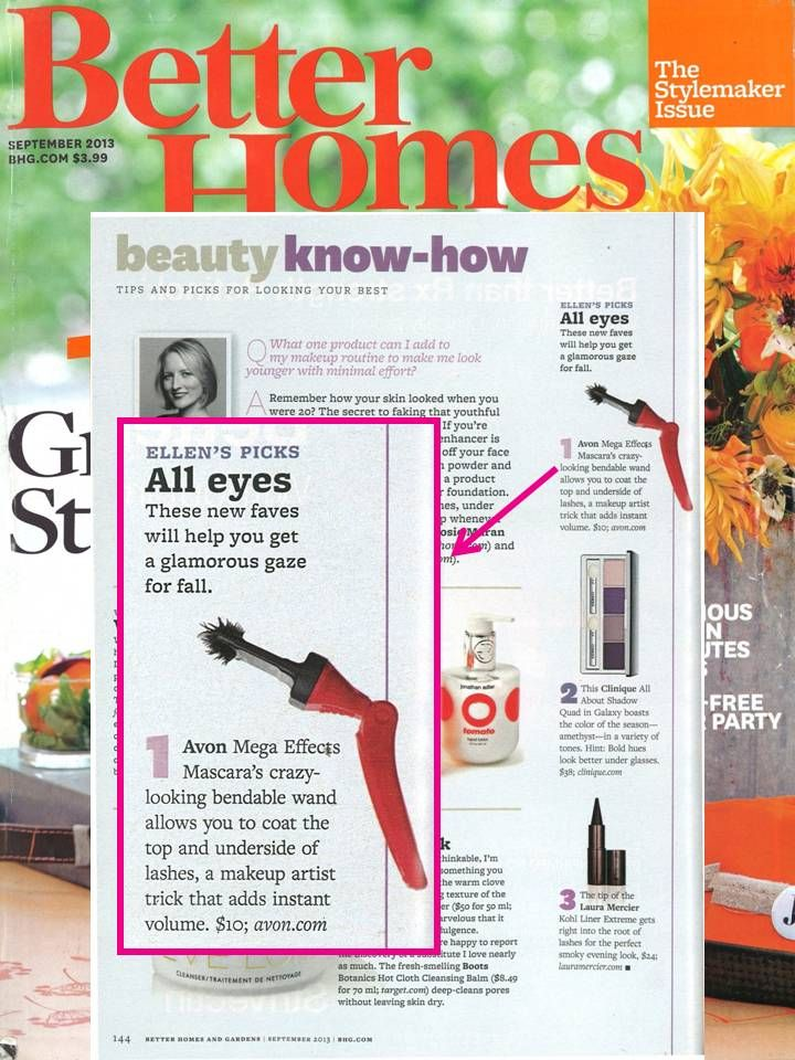 #MegaEffects Mascara is included in the September issue of @Better Homes and Gardens as a top pick to help get a glamorous gaze.